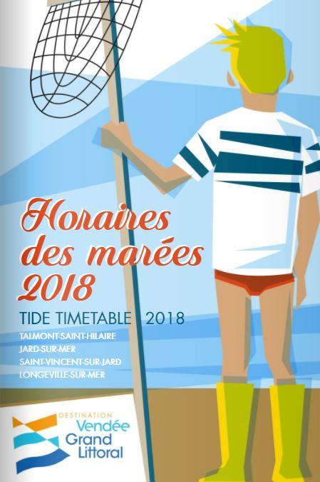 Horaires des marées 2018 de la Destinaiton Vendée Grand Littoral
