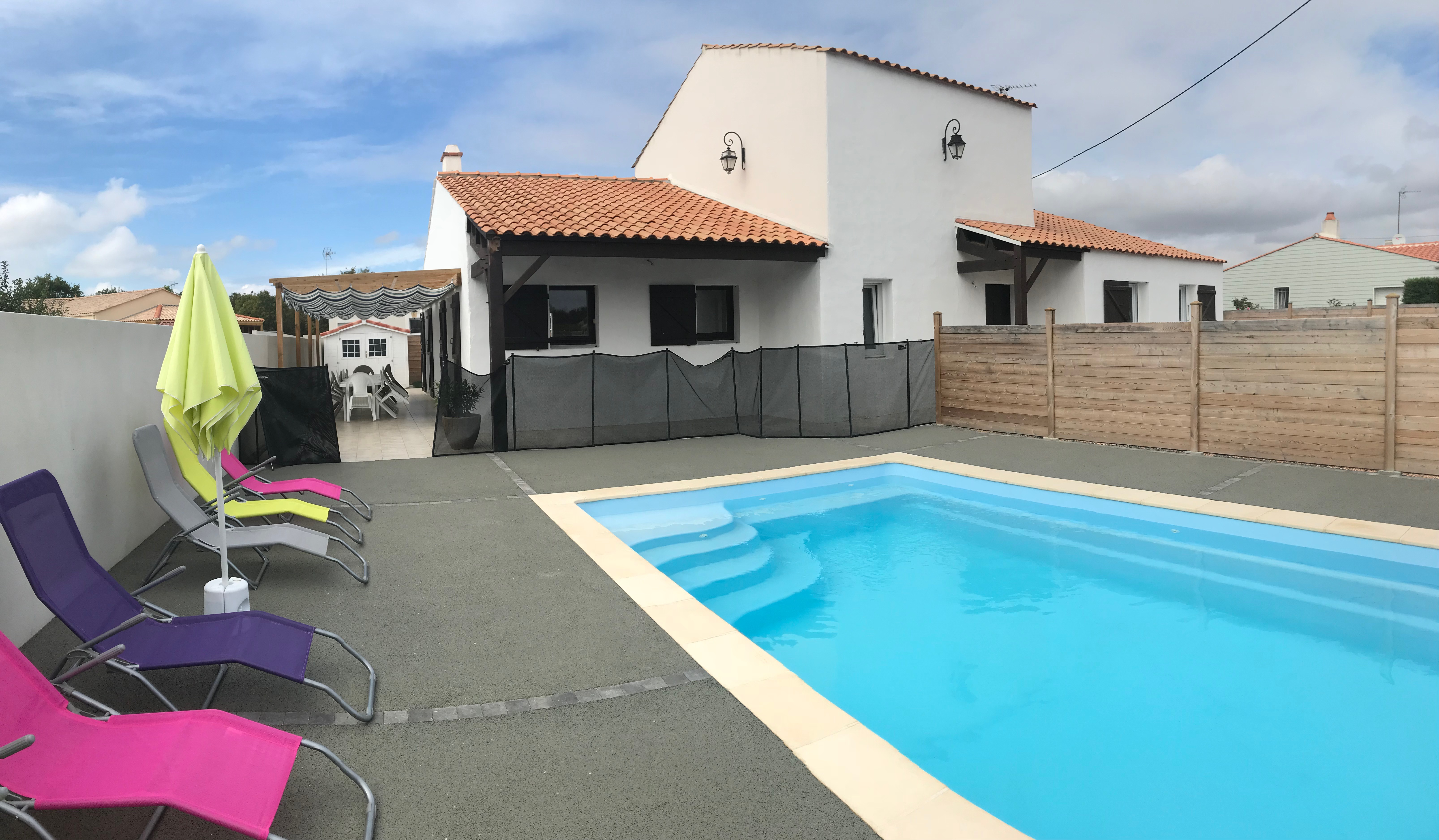 Gite Le Bernard Talmont Vendée Grand Littoral piscine extérieure