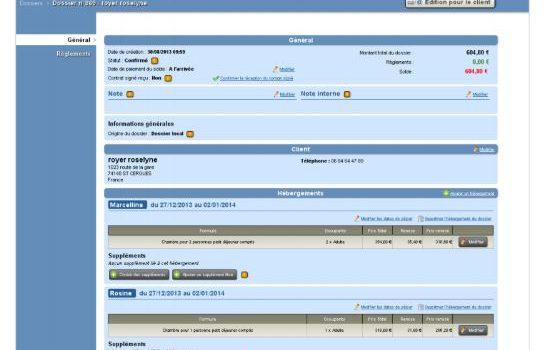 Open System dossier de réservation