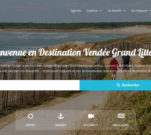 Site internet 2018 de la Destination Vendée Grand Littoral