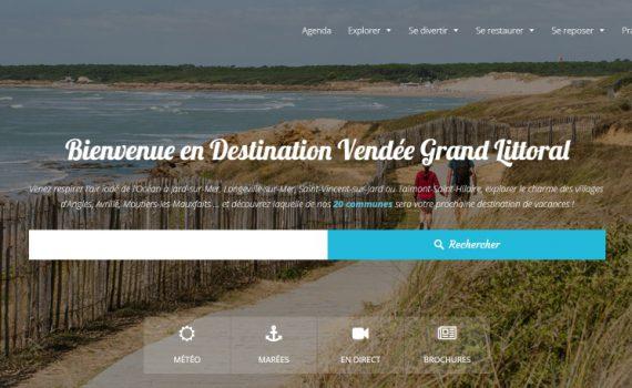 Site internet 2018 de la Destination Vendée Grand Littoral