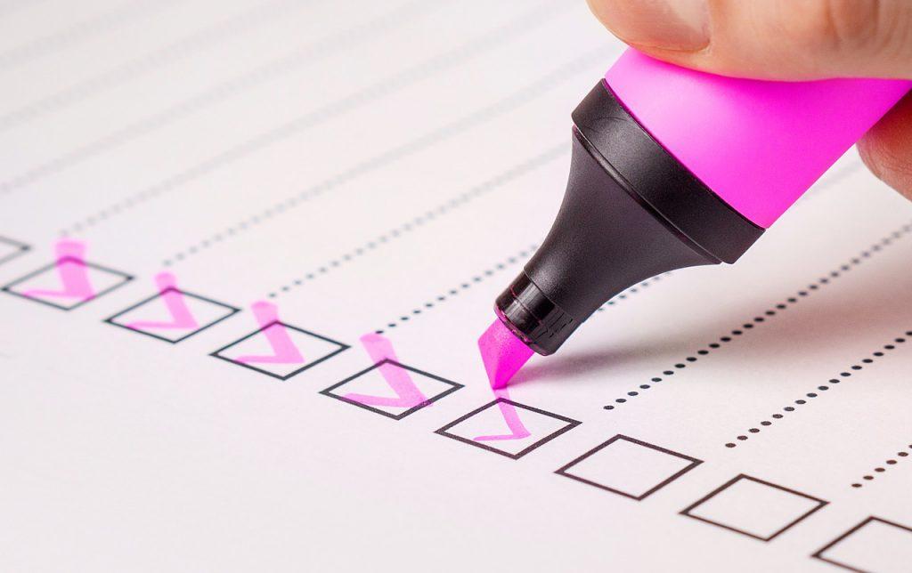 Audit Classement check list