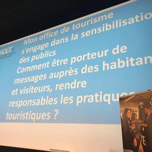 Présentation des écos-gestes de l'OT au NADOT 2019