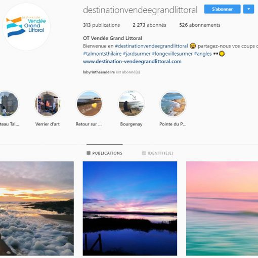 Instagram Office de tourisme Destination Vendée Grand Littoral